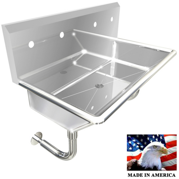 Stainless Steel Multi-station Wash up Sink, 36