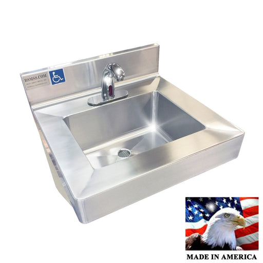 ADA HAND SINK ELECTRONIC FAUCET HEAVY DUTY STAINLESS STEEL #304 MADE IN AMERICA - Best Sheet Metal, Inc.