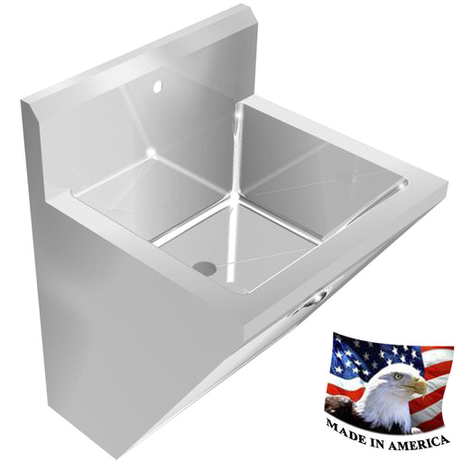"SURGEON'S CHASSIS HAND SINK 1 STATION SINK ONLY 24"" STAINLESS STEEL WELDED DRAIN - Best Sheet Metal, Inc."