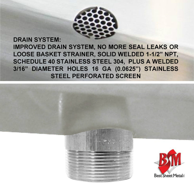 "Stainless Steel Multi-Stations Wash up Sink, 42"" Foot Pedal Columns, 022P42208C - Best Sheet Metal, Inc."