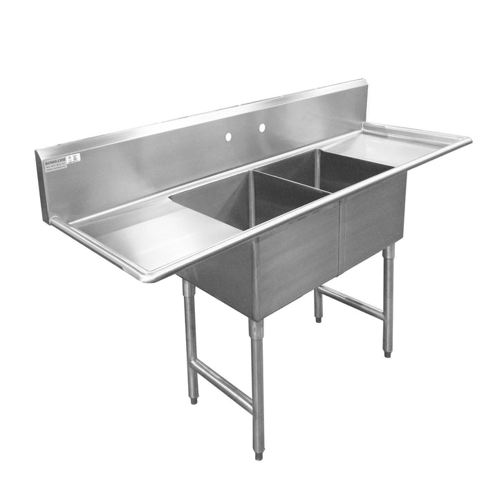 "Stainless Steel 16 Ga. Commercial Compartment Sink 72"" - Best Sheet Metal, Inc."