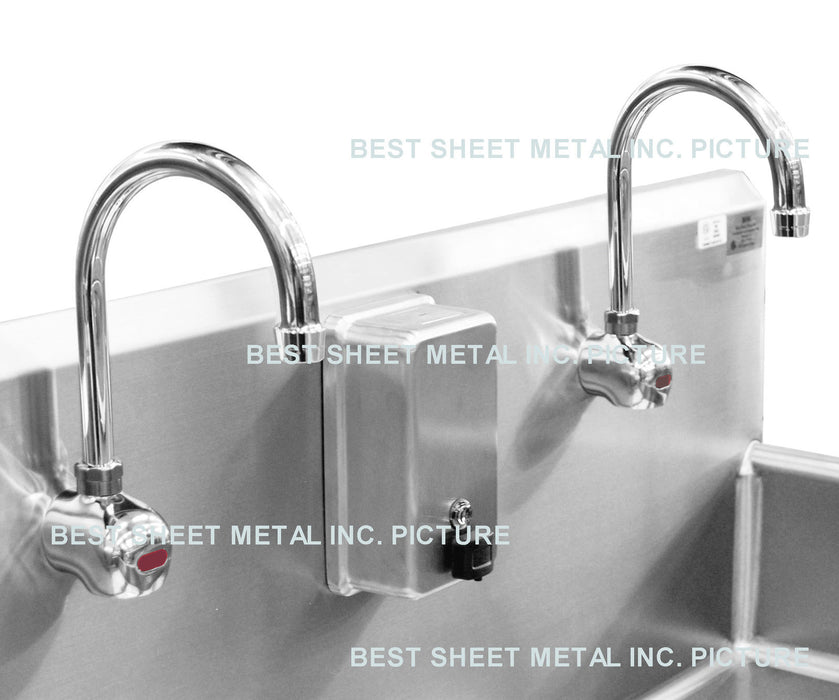 ELECTRONIC FAUCET WALL MOUNT SENSOR ACTIVATED HANDS FREE OPERATION CHROME PLATED - Best Sheet Metal, Inc.