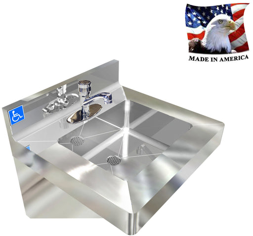 ADA, WASH UP HAND SINK STAINLESS STEEL VANDAL RESISTANT - Best Sheet Metal, Inc.