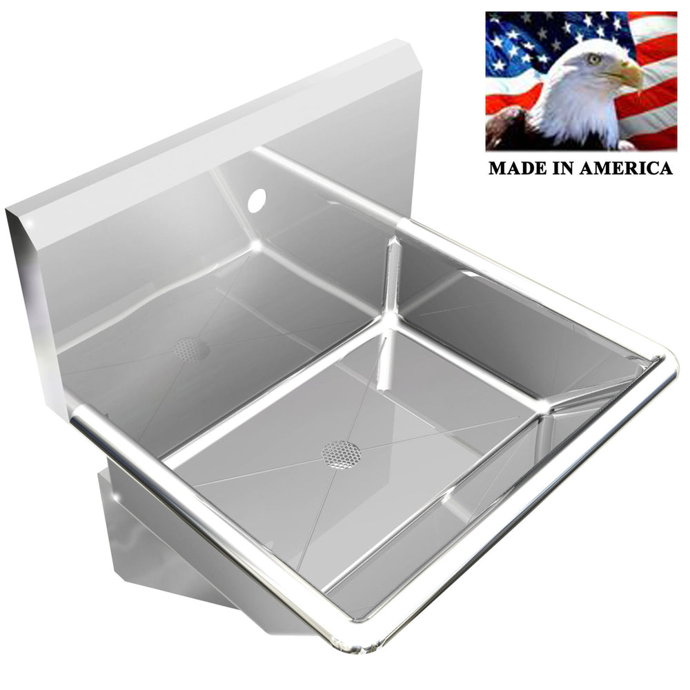 "INDUSTRIAL SINGLE WASH UP HAND SINK BASIN 24"" BODY ONLY 1 HOLE ON CENTER LAVABO - Best Sheet Metal, Inc."