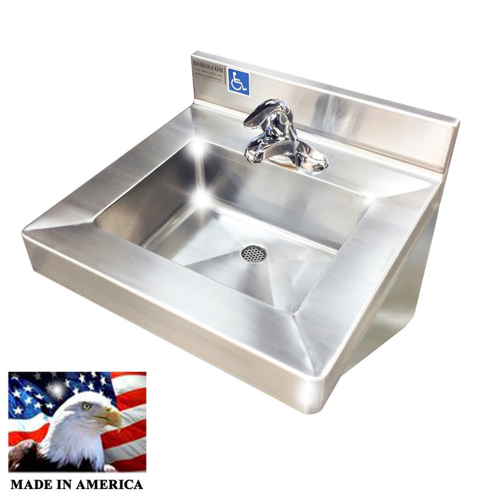 "ADA Compliant Stainless Steel Hand Sink, 20"" - Best Sheet Metal, Inc."