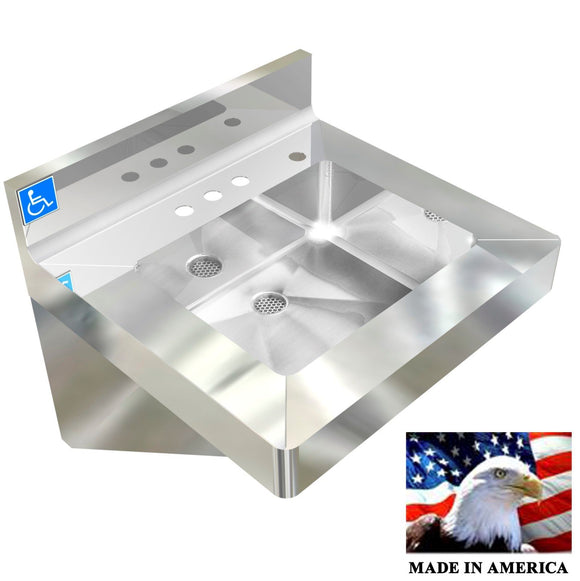 COMMERCIAL & INDUSTRIAL HAND SINK,VANDAL RESISTANT ADA COMPLIANT NSF HEAVY DUTY - Best Sheet Metal, Inc.