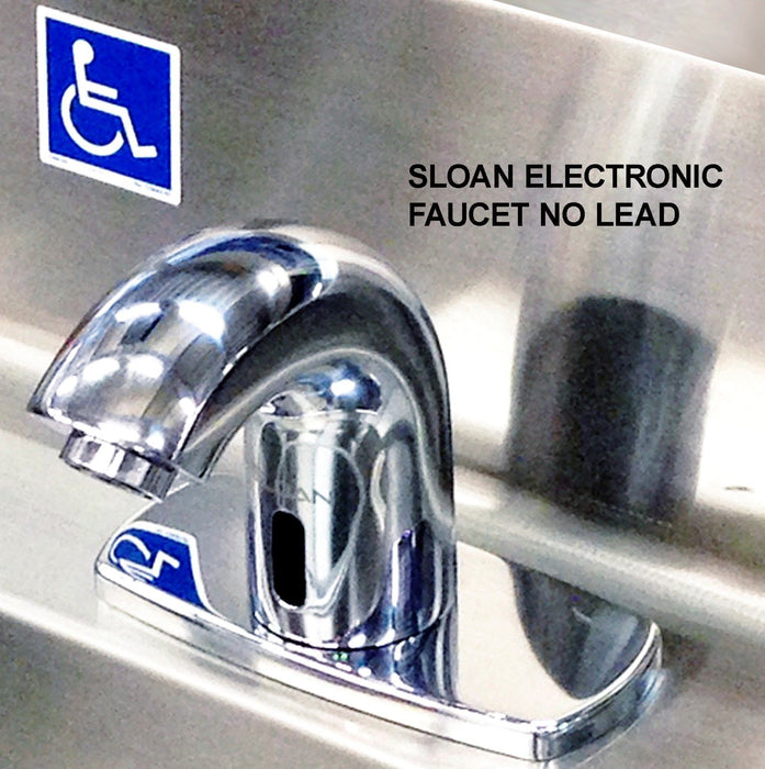 ADA HAND SINK NO LEAD ELECTRONIC FAUCET 3 STATION ROUND BOWLS STAINLESS STEEL - Best Sheet Metal, Inc.