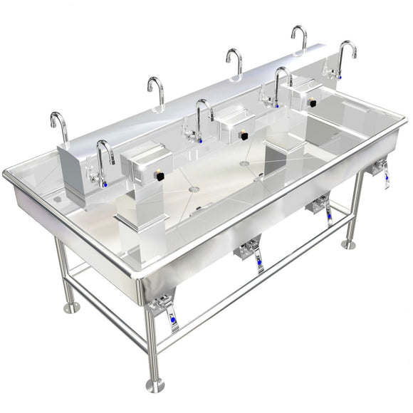 ISLAND MULTI STATION 8 USERS WASH UP HAND SINK LAVAROTY 72