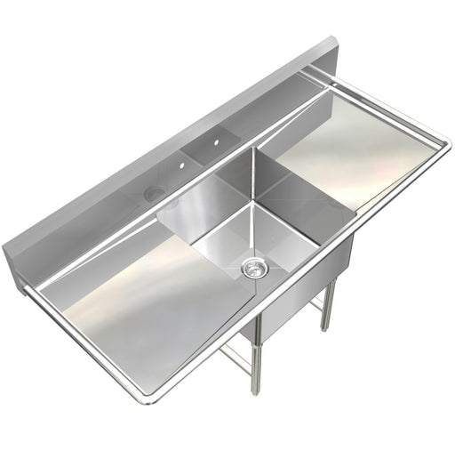 POT SINK HEAVY DUTY STAINLESS STEEL 14GA 1 TUB 54X24 NSF APPROVED MADE IN USA - Best Sheet Metal, Inc.