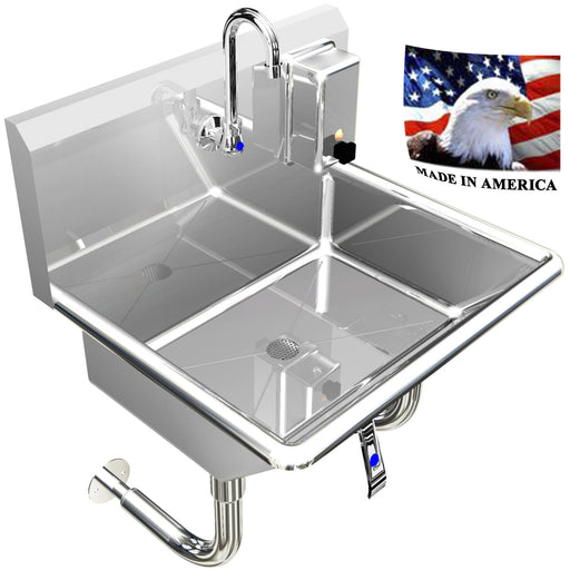 "HAND SINK, SINGLE USER 1 PERSON 24"" HANDS FREE LAVATORY - Best Sheet Metal, Inc."