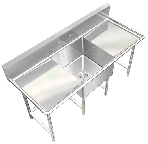 POT SINK 1 COMPARTMENT NSF APPROVED HEAVY DUTY #304 S.S. 14GA L SIZE MADE IN USA - Best Sheet Metal, Inc.