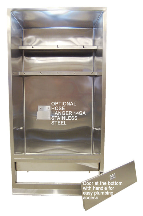 "MOP SINK CABINET 40"" MAT WASH STAINLESS STEEL ENCLOSURE WITH DOORS MADE IN USA - Best Sheet Metal, Inc."