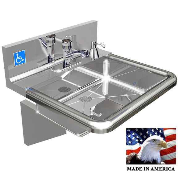 Stainless Steel ADA Compliant Hand Sink, 18-3/4