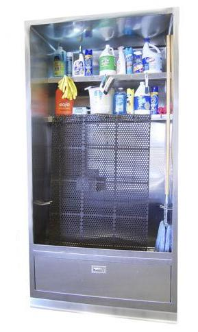 Stainless Steel Mop Sink Cabinet Enclosure - Basic Model - Best Sheet Metal, Inc.