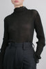 Asawa pleated silk knit top in black *webshop exclusive*
