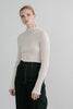 Asawa pleated silk knit top in white *webshop exclusive*