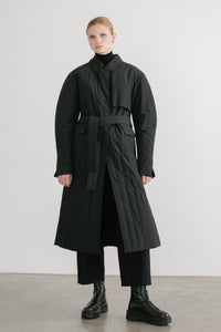 Lucio quilted puffer trench coat - webshop exclusive-