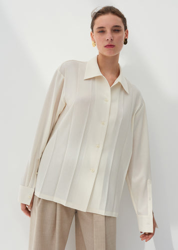 Rita pleated shirt