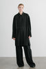 Verda wool blend long shirt in black