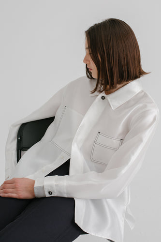 Elliott Iridescent Shirt in white