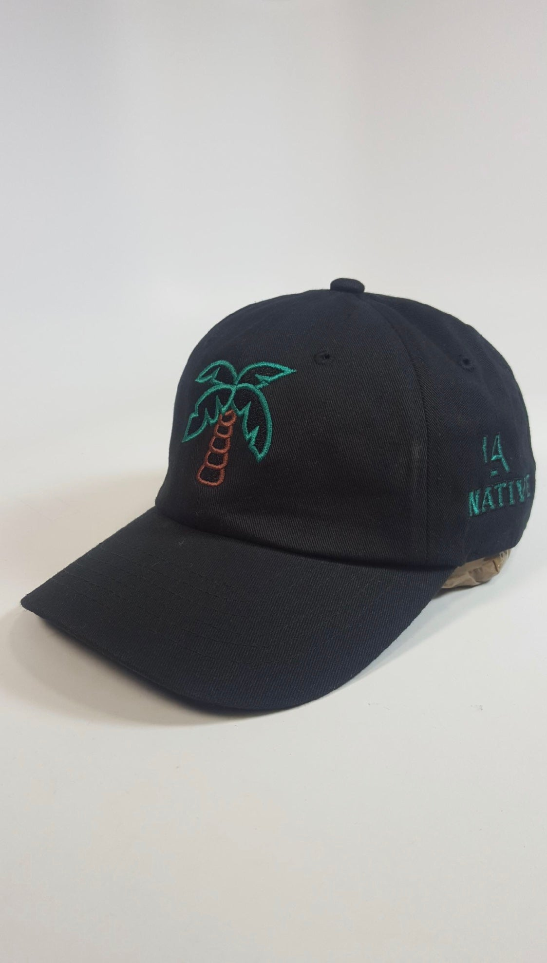 Black Palm Tree Dad Hat