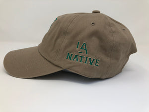 Khaki Palm Tree Dad Hat