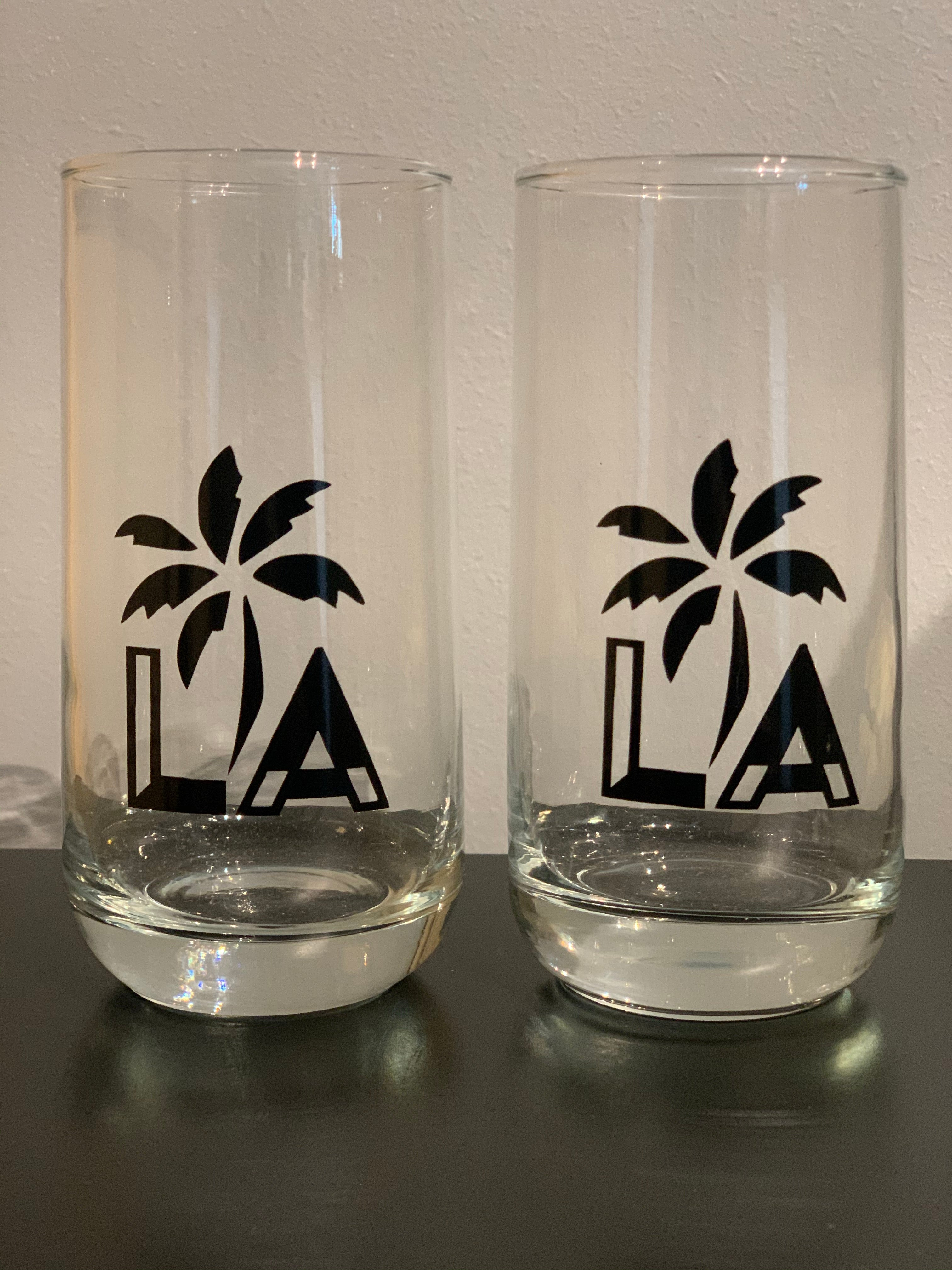 "Black LA ""Tall"" Glasses Set"