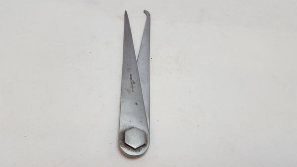 "Plumpton & Co Firm Joint 6 3/8"" Broad Arrow 1949 Jenny Leg Calipers 12371-The Vintage Tool Shop"