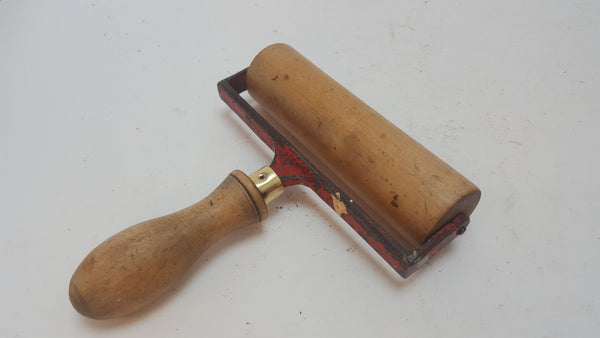 "Vintage 6"" Wooden Roller Burnisher Fantastic Restored Condition 12839-The Vintage Tool Shop"