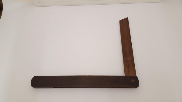 "Vintage 12"" Wooden Adjustable Bevel Square 14237-The Vintage Tool Shop"