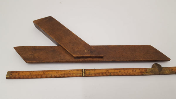"Vintage 12"" Wooden Mitre Square Sublime Condition 14439-The Vintage Tool Shop"