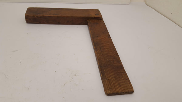 "Fine 14"" x 10"" Solid Wooden Try Square Lovely Condition 14440-The Vintage Tool Shop"