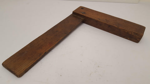 "Fine 14"" x 10"" Solid Wooden Try Square Lovely Condition 14440"