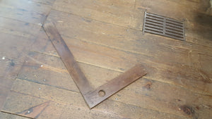 "Wood 19"" Try Square 5343-The Vintage Tool Shop"
