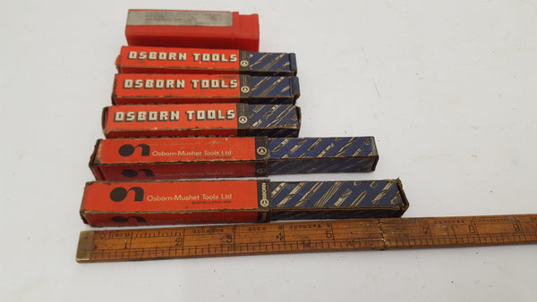 Set Boxes Osborn Drills 8/10/12/13/18mm 14497-The Vintage Tool Shop