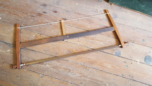 "Stunning Large 41"" Wooden Bow Saw Beautiful Restored Condition 14879-The Vintage Tool Shop"