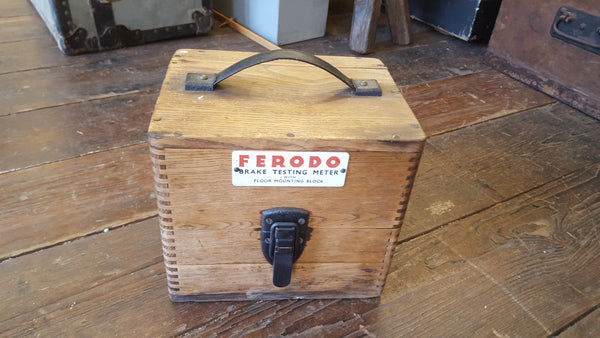 Ferodo Brake Testing Machine Original Wooden Box 15023-The Vintage Tool Shop