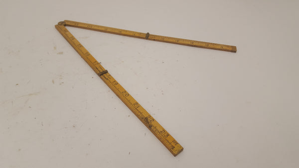 "24"" Boxwood Folding Ruler 15139-The Vintage Tool Shop"