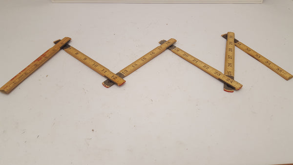 Newson Folding 3 foot Wood Ruler 15381-The Vintage Tool Shop
