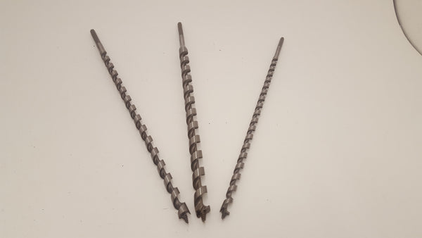 Trio of Irwin 400mm Auger Drill Bits 10mm 12mm & 16 All Sharp Un-Used 15758-The Vintage Tool Shop