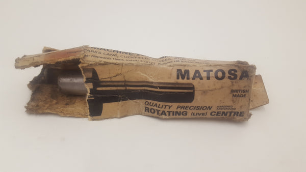 "Matosa Rotating Centre 60 degree Inclusive Taper to 1 1/2"" Diameter 17556-The Vintage Tool Shop"