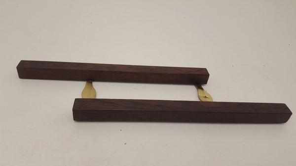 Brass & Rosewood Parallel Rule Centre Pin 18404-The Vintage Tool Shop