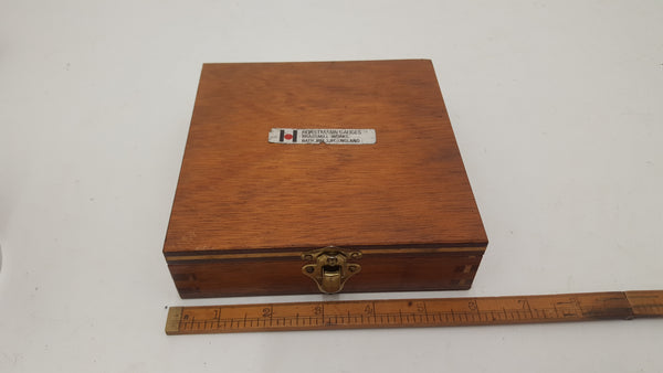 "Horstmann Adjustable Thread Caliper Gauge 1/4"" 20 UNC Wooden Box VGC 18397-The Vintage Tool Shop"