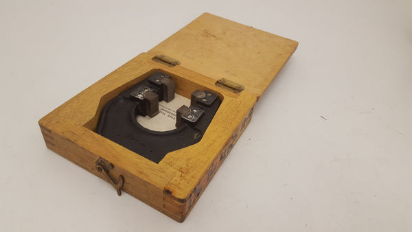 "Horstmann Adjustable Thread Caliper Gauge 1 1/8"" 16 UNS Wooden Box 18403-The Vintage Tool Shop"