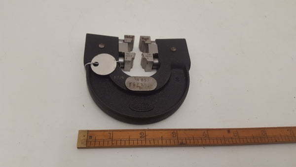 "Matrix Thread Caliper Gauge 1/4"" BSF Tin Box 18442-The Vintage Tool Shop"