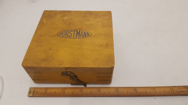 "Horstmann Adjustable Thread Caliper Gauge 1/4"" 26 BSF VGC Wooden Box 18504-The Vintage Tool Shop"