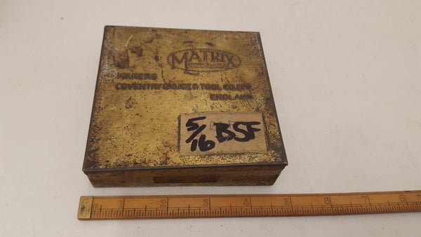 "Matrix Thread Caliper Gauge 5/16"" BSF VGC Tin Box 18500-The Vintage Tool Shop"