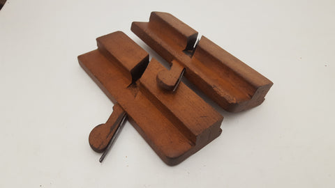 Pair Of T Turner Wooden #5 Beading Planes VGC 18611-The Vintage Tool Shop