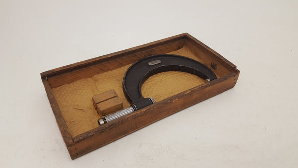 "Moores & Wright Micrometer 2"" - 3"" Damaged Wooden Boxed 18628-The Vintage Tool Shop"