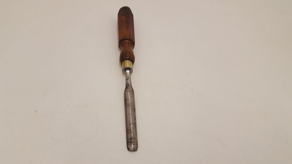 "7/16"" Isaac Greaves Wood Carving Gouge with Octaganol Handle 18719-The Vintage Tool Shop"